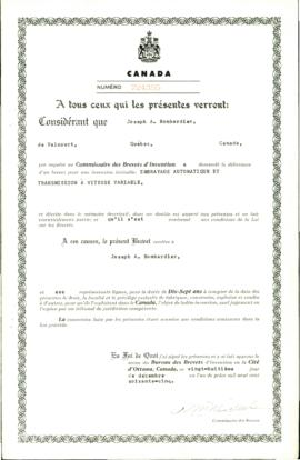 "Brevet ""Embrayage automatique et transmission à vitesse variable"""
