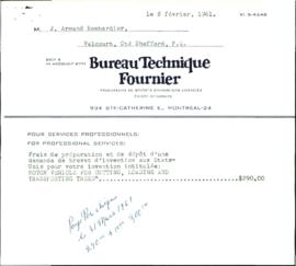"Documents afférents du brevet ""Motor vehicle for cutting, loading and transporting trees"""